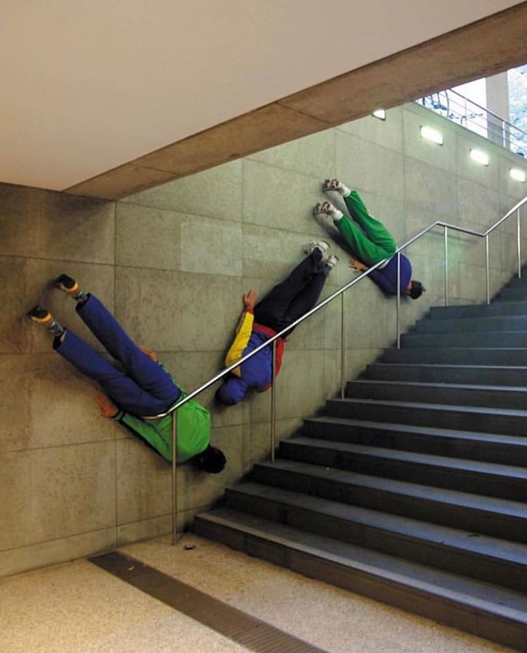 Bodies in urban spaces, a series by Willi Dorner Myartisreal
