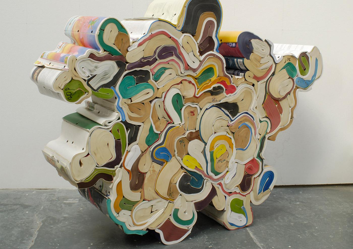 book sculpture by Jonathan Callan