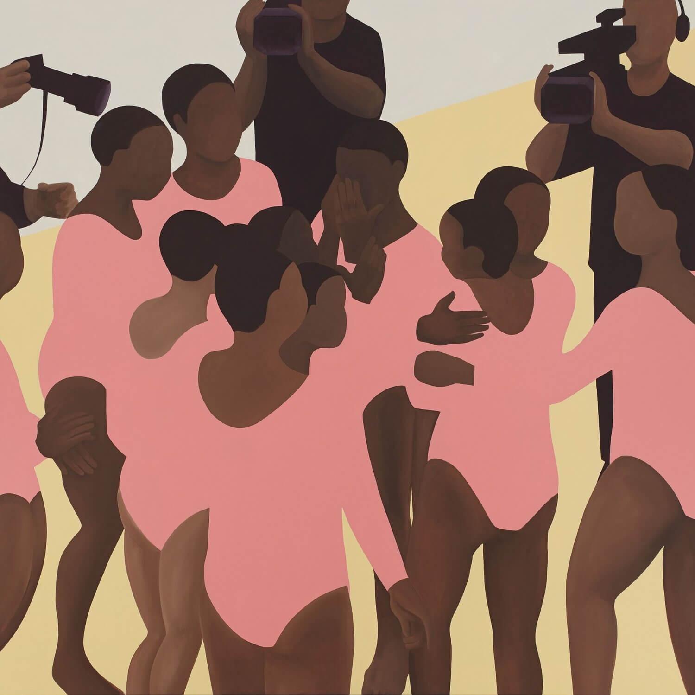 Gymnasium a series of paintings by Thenjiwe Niki Nkosi